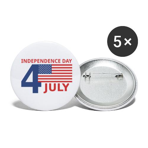 4 luglio giorno della indipendenza - Confezione da 5 spille piccole (25 mm)