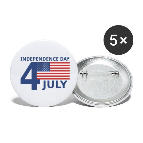 4th of July. 4 luglio - Confezione da 5 spille piccole (25 mm)