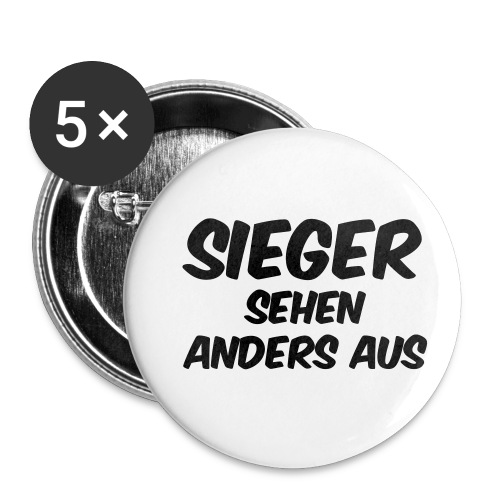 Sieger sehen anders aus - Buttons klein 25 mm (5er Pack)