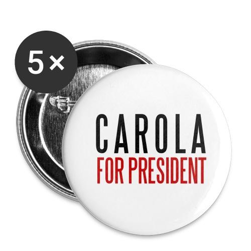 president - Små knappar 25 mm (5-pack)