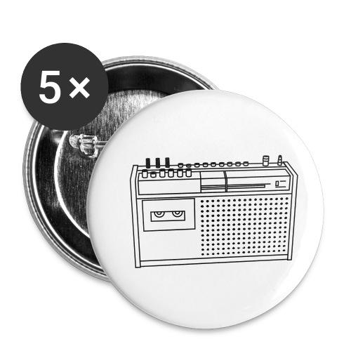 Rekorder R160 - Buttons klein 25 mm (5er Pack)