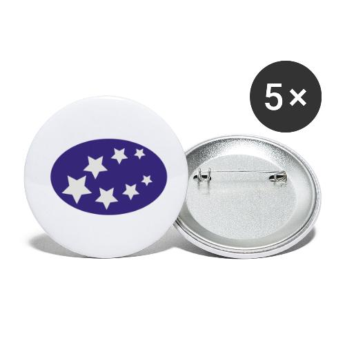 ster regen - Buttons klein 25 mm (5-pack)