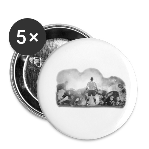 Rugby Scrum - Buttons small 1''/25 mm (5-pack)