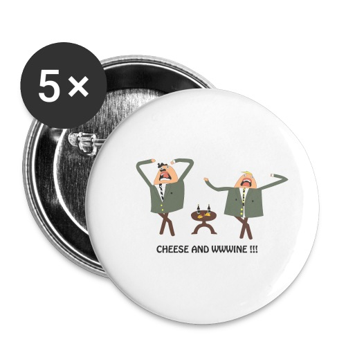 cheese and wine - Buttons small 1''/25 mm (5-pack)