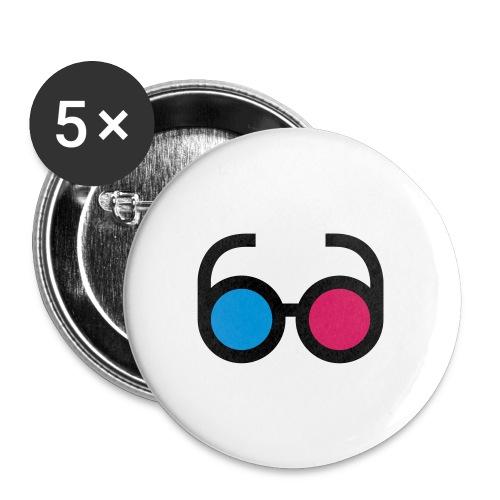 lps lunettes - Lot de 5 petits badges (25 mm)