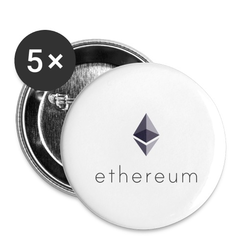 Cryptocurrency - Ethereum (ETH) - Buttons klein 25 mm (5er Pack)
