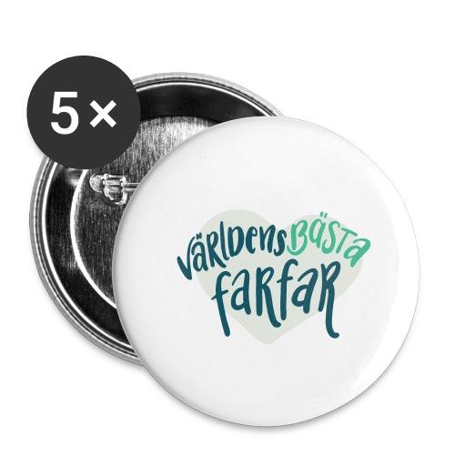 Världens bästa Farfar - Små knappar 25 mm (5-pack)