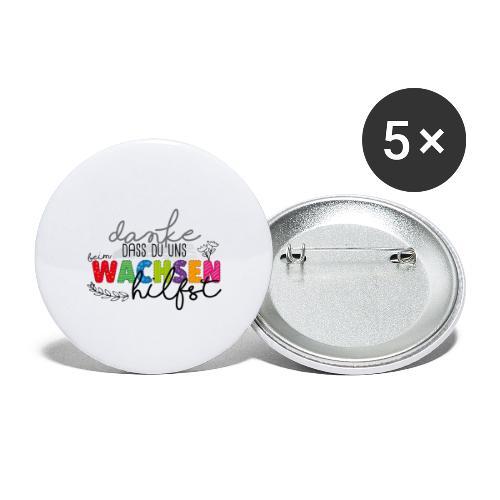 Danke fürs Wachsen - Buttons klein 25 mm (5er Pack)