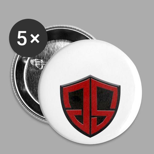 logojs gif - Buttons klein 25 mm (5er Pack)