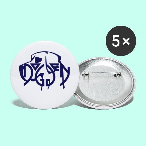 Deutsche Dogge minimal - Buttons klein 25 mm (5er Pack)