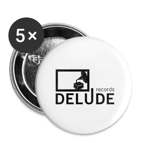 Delude Records Label Logo - Buttons klein 25 mm (5er Pack)