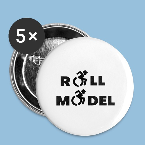 RollModel5 - Buttons klein 25 mm (5-pack)