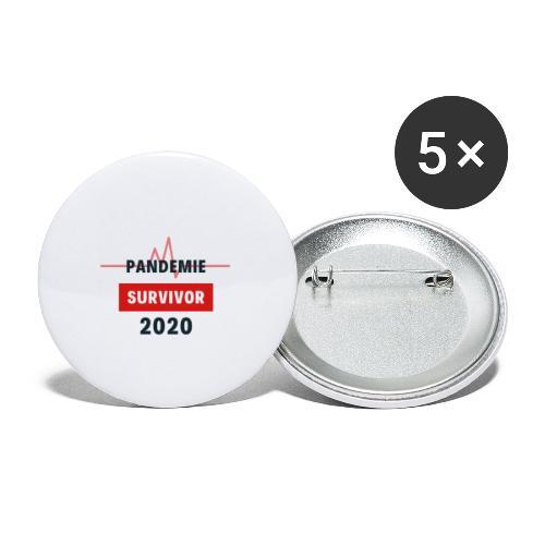 Pandemie Survivor - Buttons klein 25 mm (5er Pack)