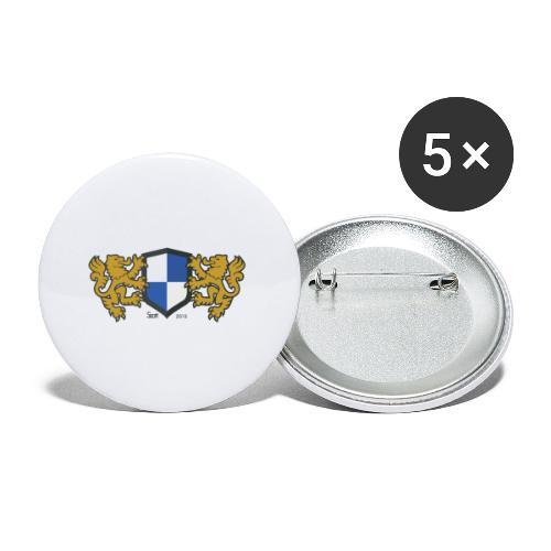 loewen wappen blau weiss - Buttons klein 25 mm (5er Pack)