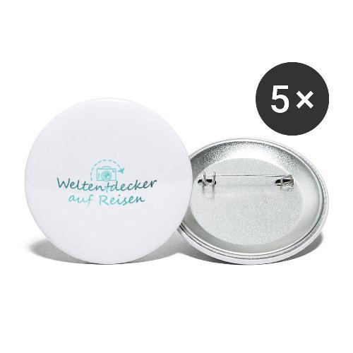 Weltentdecker auf Reisen - Buttons klein 25 mm (5er Pack)
