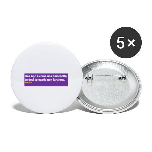 barzelletta - Confezione da 5 spille piccole (25 mm)