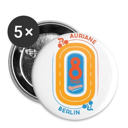 8-Tage-Rennen - Buttons klein 25 mm (5er Pack)