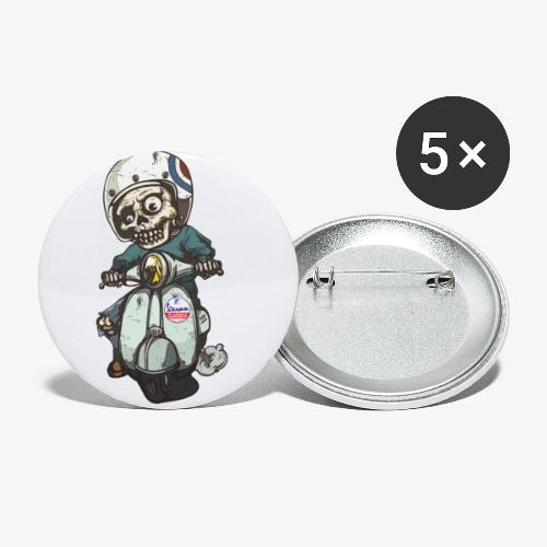 Skullterist - Solo Big Print - Buttons klein 25 mm (5er Pack)
