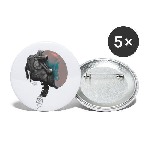 Marsianer - Buttons klein 25 mm (5er Pack)
