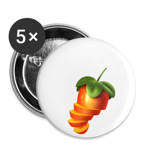 Sliced Sweaty Fruit - Buttons small 1''/25 mm (5-pack)