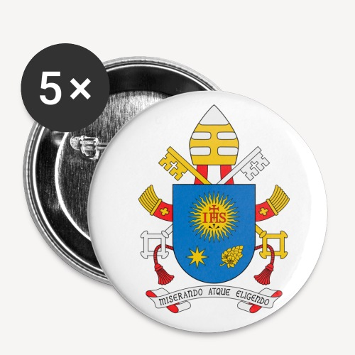 PAPAL CREST BADGE - Buttons small 1''/25 mm (5-pack)
