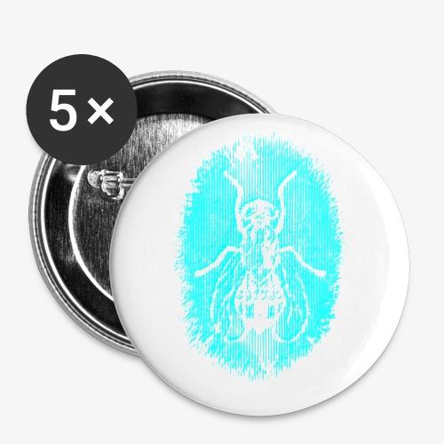 Fluga Turquoise - Små knappar 25 mm (5-pack)