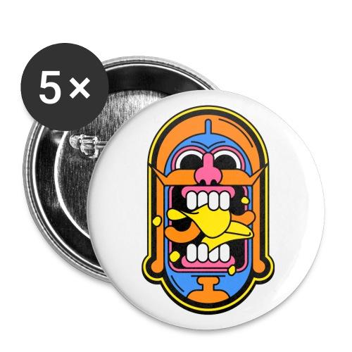 Snackspertti – Historian Sipsien Rapinaa -logo - Rintamerkit pienet 25 mm (5kpl pakkauksessa)