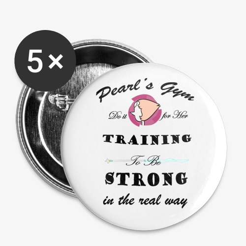 Strong in the Real Way - Confezione da 5 spille piccole (25 mm)