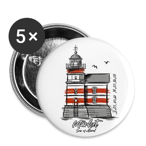 MÄRKET FYR MAJAKKA Tekstiles, gifts, products - Rintamerkit pienet 25 mm (5kpl pakkauksessa)