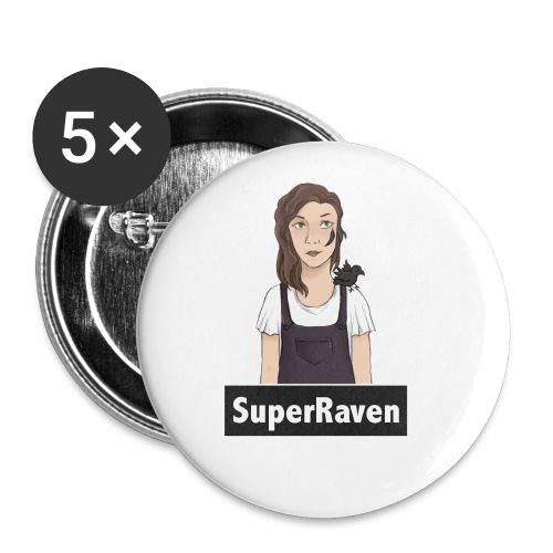 SuperRaven - Buttons small 1''/25 mm (5-pack)