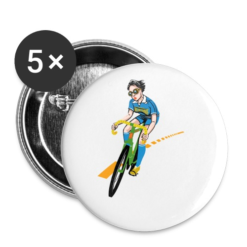 The Bicycle Girl - Buttons klein 25 mm (5er Pack)