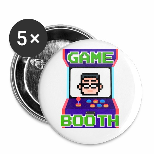 GameBooth Icon Logo - Buttons small 1''/25 mm (5-pack)