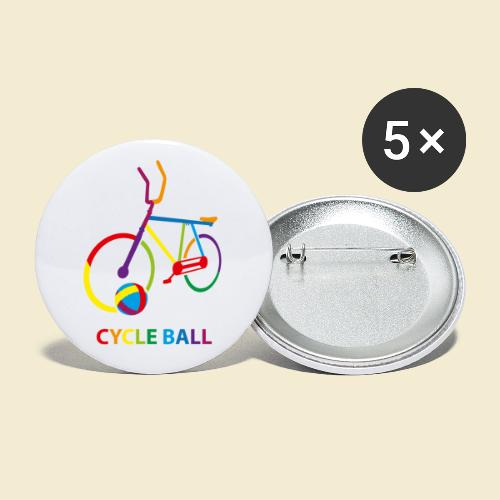 Radball | Cycle Ball Rainbow - Buttons klein 25 mm (5er Pack)