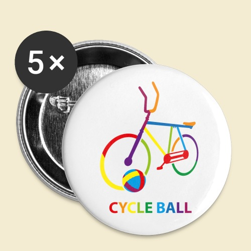 Radball | Cycle Ball Rainbow - Buttons klein 25 mm