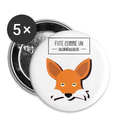 Fûté comme un renard - Lot de 5 petits badges (25 mm)