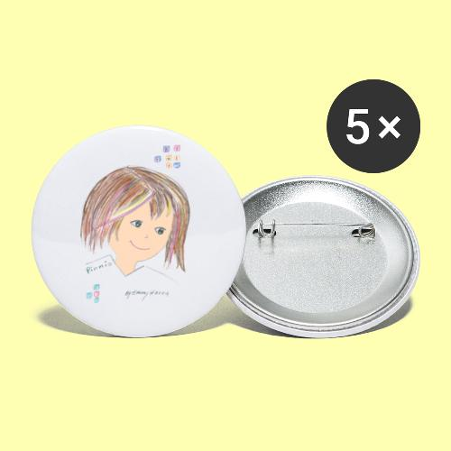 Pinni® Desing by Emmy Hanna - Buttons klein 25 mm (5er Pack)