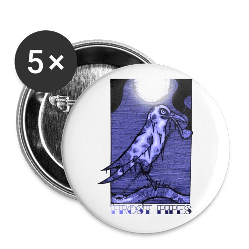 The Frost Crow - Buttons small 1''/25 mm (5-pack)