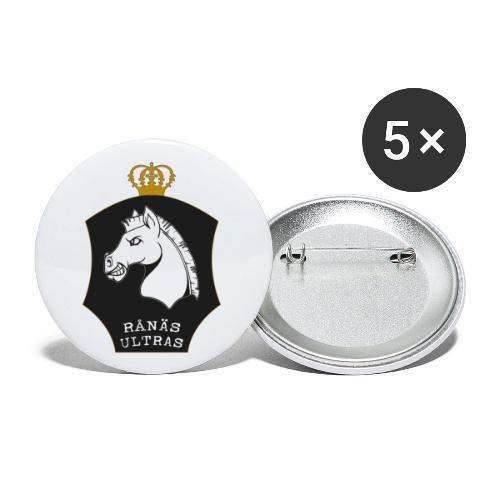 Ultras svart - Små knappar 25 mm (5-pack)