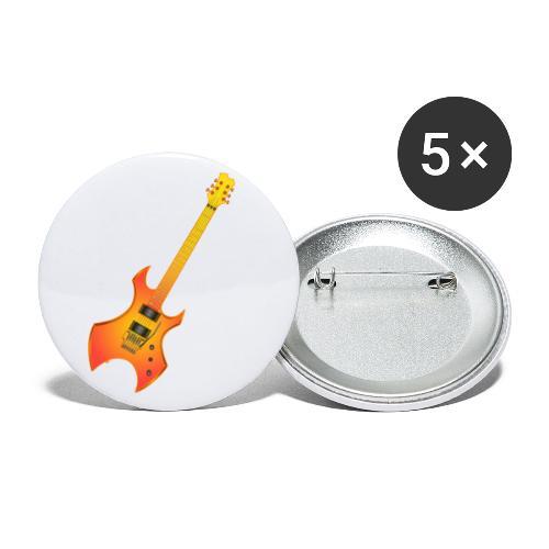 200317 gear4music gold rock guitar - Paquete de 5 chapas pequeñas (25 mm)
