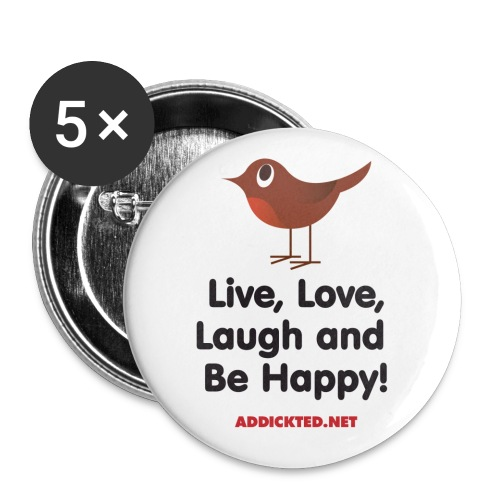 mug livelaughlove - Buttons small 1''/25 mm (5-pack)