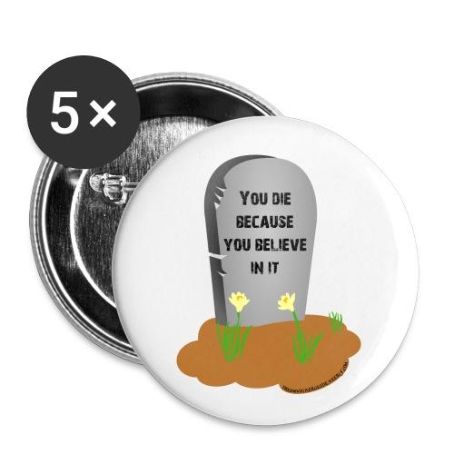 Death is a lie - Confezione da 5 spille piccole (25 mm)