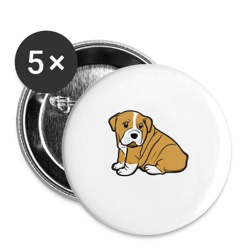 My Best Friend - Hundewelpen Spruch - Buttons klein 25 mm (5er Pack)