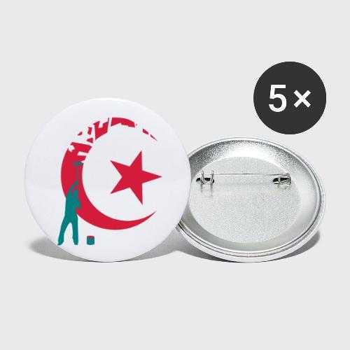 Algérie for Ever - Lot de 5 petits badges (25 mm)