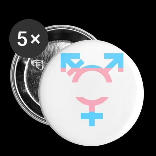 transgender symbol - Przypinka mała 25 mm (pakiet 5 szt.)