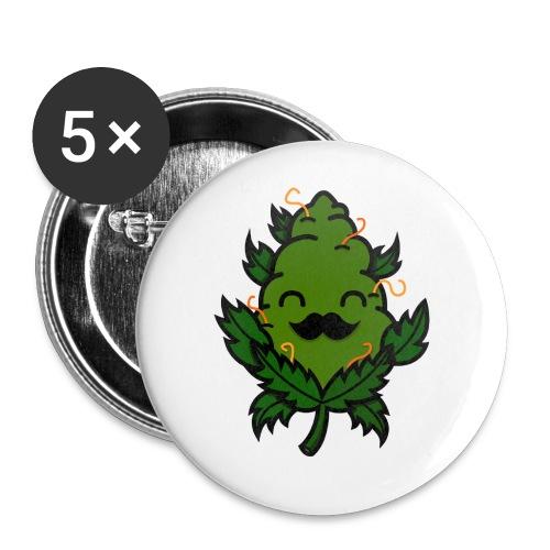 Mr. Weed Nug - Paquete de 5 chapas pequeñas (25 mm)