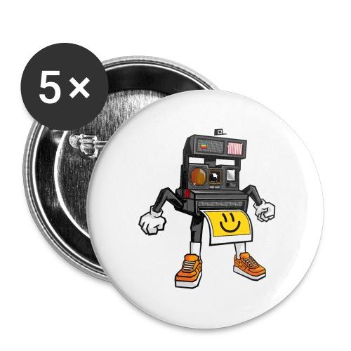 Appareil Polaroid 660 - Lot de 5 petits badges (25 mm)