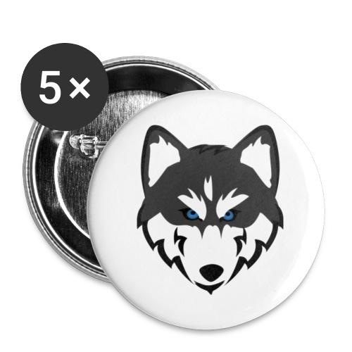 husky - Buttons klein 25 mm (5er Pack)