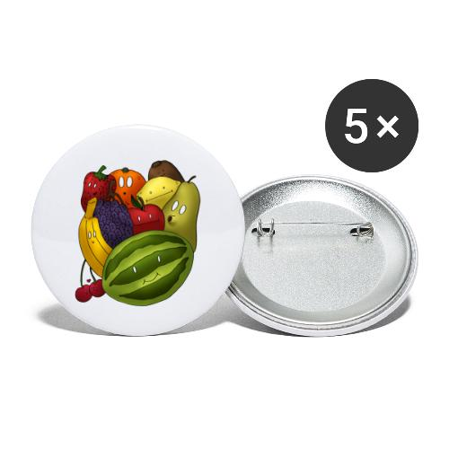 Happy Fruits - Buttons klein 25 mm (5er Pack)