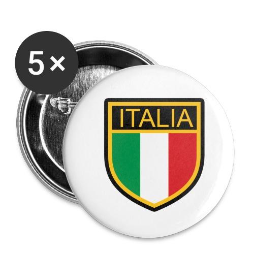 SCUDETTO ITALIA CALCIO - Confezione da 5 spille piccole (25 mm)