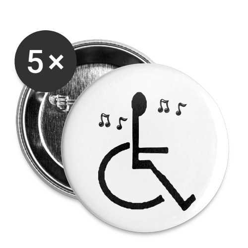 Musical Chairs - Buttons small 1''/25 mm (5-pack)